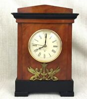 Egyptian Revival Mantle Clock Large Wooden Antique Style The Lanesborough Hotel