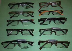 Lot de 10 montures  de lunettes de vue