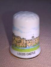 Collectable china thimble souvenir Leeds Castle Maidstone Kent