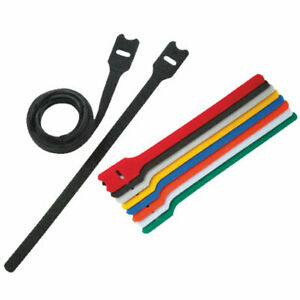 Hook and Loop Cable Ties, Reusable Strapping, Double Sided, Various Colours