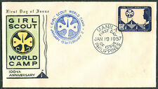1967 Philippines GIRL SCOUT WORLD CAMP 100TH ANNIVERSARY First Day Cover - C