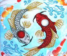 Fische Stickpackung mit Perlen Stickset Stickvorlage Stickbild Geschenkidee 38