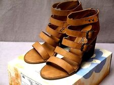 MUDD REEDLY COGNAC Buckle/Zip Fashion Strappy  Shoes Size:10 BNIB