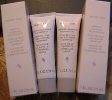 MARY KAY MEDIUM COVERAGE FOUNDATION BEIGE 400 LOT OF 2- 8 Hour Oil Control