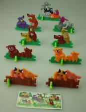 Set of 9 Kinder Surprise Animal Puzzles K97-N9 to K97-N14 with Paper D275