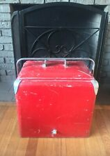 Vintage Progress Refrigerator Co Cooler Box Classic Red Ice Cooler Louisville KY