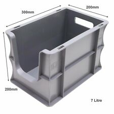 NEW Strong Grey Industrial Plastic Eurobox Containers Storage Boxes Box Crates