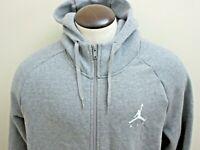 Nike Jordan Jumpman Mens Fleece Full Zip Hoodie Carbon Grey White Size 3XL NWT
