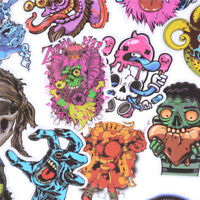 50Pcs Mixed Horror Stickers For Luggage Laptop Skateboard Bicycle Decals PVC LA
