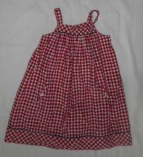 Jacadi Red White Gingham Dress Summer Sundress Sleeveless Size 8 Yr