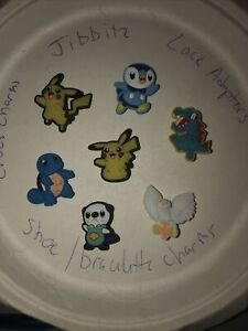 Pokemon Lot Of 7 Crocs Shoe,Bracelet ,Lace Adapter Charms,Jibbitz Fits All Sizes