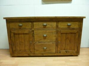 New Chunky Reclaimed Weathered Wood 2 Door 5 Drawer Sideboard *Furniture Store*