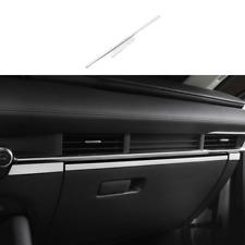 Fit For Mazda 3 Axela 2020-2021 Silver Steel Console Co-Pilot Strip Cover Trim