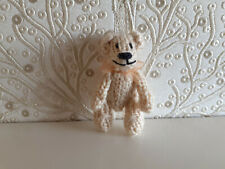 5 cm Beige Hand Knitted Tiny Jointed Teddy Bear Birthday Gift Present Miniature