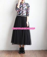 2017 New Women Girl Style TUTU Skirt Tulle Maxi Midi Vintage Pleated  Skirt