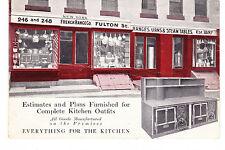 RARE FULTON STREET RESTAURANT KITCHEN EQUIPMENT ADVERTISING PC, NYC