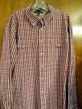 Mens Tommy Hilfiger Button Long Sleeved Plaid Red Shirt Vintage 80s XXL