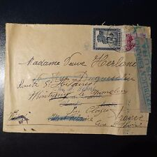 ESPAGNE LETTRE CENSURE MILITAIRE CENSOR COVER CAD BARCELONE 1938 POUR CLOYES