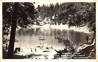D89/ Crystal Lake Los Angeles County California Ca Postcard c40s Photo RPPC CAMP