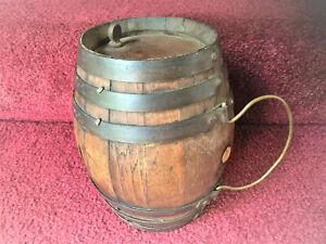 Antique Primitive Wooden Rundlet Rumlet Keg AAFA