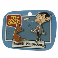 MR BEAN & TEDDY ENAMEL PIN BADGE SET BRAND NEW!