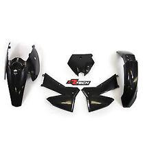 Racetech Plastics kit BLACK.  EXC 400 450 500 525. 2005 - 2007