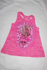 Girls Tank Top PINK MONSTER HIGH RACERBACK SWEATER Loose Fit Flared XS 4-5