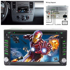 Car Stereo FM Bluetooth Autoradio iPod DVD CD Player GPS Navigation Support Map