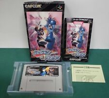 SNES -- ROCKMAN & FORTE Megaman&Bass -- Box. Can be data save! Japan game.