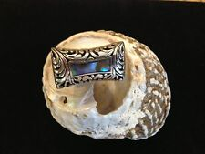 925 STERLING SILVER MOUNT AGUNG RING WITH ABALONE