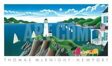 America's Cup, Newport by Thomas Mcknight Art Print Sailing 1994 Poster 39x23