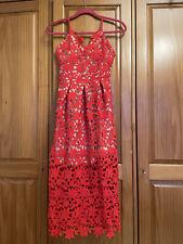 Vestido de encaje Auto Portait Estilo Rojo perfecto para la boda invitado