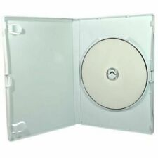 White Wii DVD Storage Cases Sleeve 14 Mm - 100 Pack Replacement Cases for Games