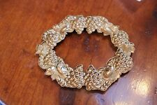 RARE SET OF EIGHT Antique BEAUTIFUL Brass 3D GRAPE Napkin Rings Holders PERFECT
