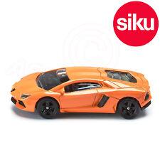 Siku No 1449 Lamborghini Aventador SuperCar in Orange - Dicast Metal Model Car