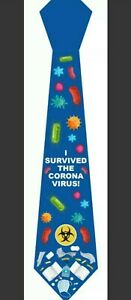 Novelty Mens Survived Virus Polyester Tie co 19