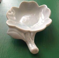 Tea Bag Rest Earring Holder Flower Shaped Gray Ceramic B10