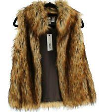 BB DAKOTA Revolve Colton Faux Fur Vest Size XS Brown NEW $101