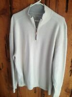 TOMMY BAHAMA COTTON SWEATER LIGHT GRAY AND GRAY SIZE XL