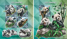 Pandas Panda Bears Bären Fauna Animals Niger MNH stamp set