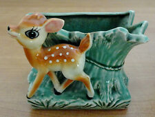 Vintage Nippon Yoko Boeki DEER Ceramic Planter Recipe Card Pen Holder Bambi Fawn