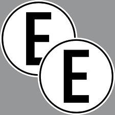 2 Aufkleber Sticker E für Eletromotor Elektroantrieb Auto Rennsport Racing Kart