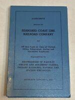 Agreement Between the Seaboard Coast Line Railroad Company Brotherhood Railway