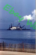 Dredge Ship/Boat of Lake Michigan Shoreline Manitowoc 1960 Kodak 35mm Slide 2