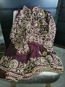 Pakistani Indian Bridal Wedding Dress Lengha saree Asian Walimah Clothes