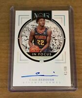 2019-20 PANINI NOIR CAM REDDISH IN FOCUS ROOKIE AUTOGRAPH SP /99 ~ HAWKS