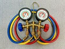 New Listingjb Industries 2 Valve Brass Manifold Gauge Set Hvac R22r404ar410a Usa