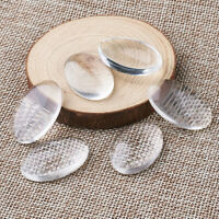 100/200 Transparent Oval Glass Cabochons Glass Covers for DIY Setting Pick Sizes