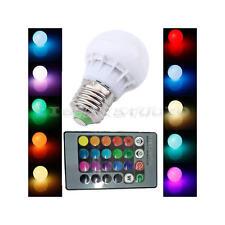 E27 3W RGB LED Lampe Couleur Changement Ampoule Spot Globe 24 Télécommande AC