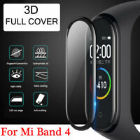 1/2 PACK 3D Clear Protective Film Full Screen Protector for Xiaomi Mi Band 4